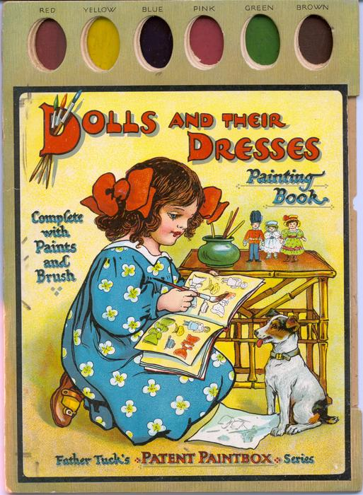 DOLLS AND THEIR DRESSES PAINTING BOOK