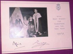 1953 card signed by Duke and Duchess of Gloucester in Coronation robes