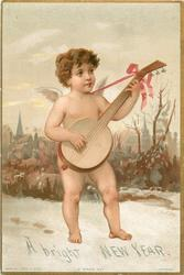 cupid playing banjo