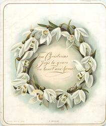 white flowers in shape of a wreath