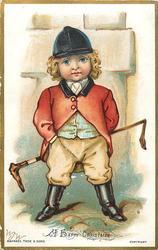 boy dressed as huntsman
