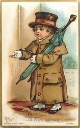 boy dressed as gentleman caller