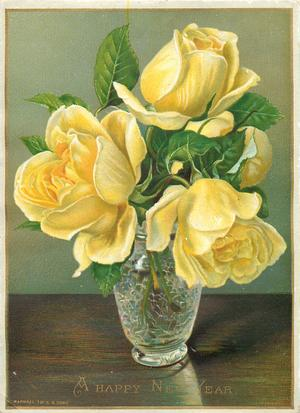 yellow roses in vase