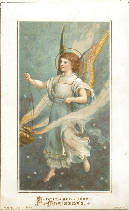 angel holds incense burner