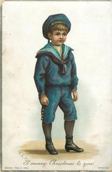 boy in blue sailor suit