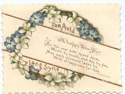 FOR AULD LANG SYNE blue and white flowers