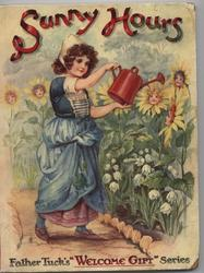 SUNNY HOURS girl with watering can