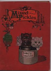 MIXED PICKLES three cats in pickle jar