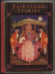 FAIRYLAND STORIES girl in fancy dress stepping out of a coach, coachmen on either side