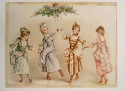THE MINUET four well dress ladies dancing