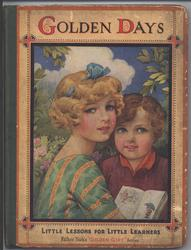 GOLDEN DAYS girl and boy with book