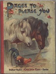 PAGES TO PLEASE YOU two horses with rooster