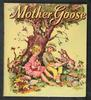 MOTHER GOOSE boy and girl with toys, food, and animals sit under tree