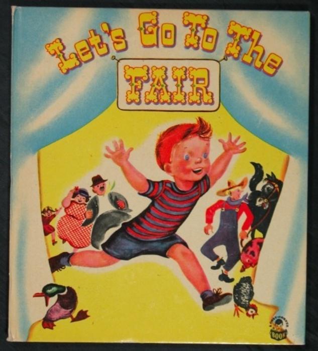 LET'S GO TO THE FAIR young boy bursts through circus tent