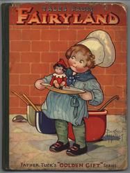 TALES FROM FAIRYLAND baker boy with small doll on plate