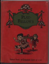 PLAY-FELLOWS boy chasing girl and dog