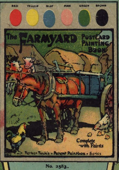 THE FARMYARD POSTCARD PAINTING BOOK