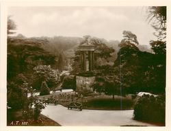 monument in garden