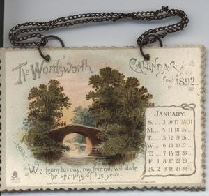 THE WORDSWORTH CALENDAR FOR 1892