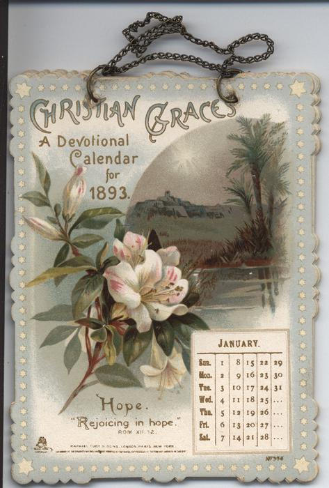 christian graces a devotional calendar for 1893