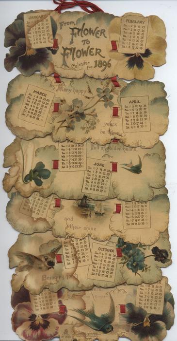 FROM FLOWER TO FLOWER CALENDAR FOR 1896