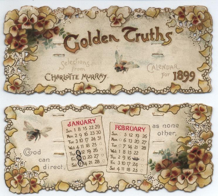 GOLDEN TRUTHS CALENDAR FOR 1899