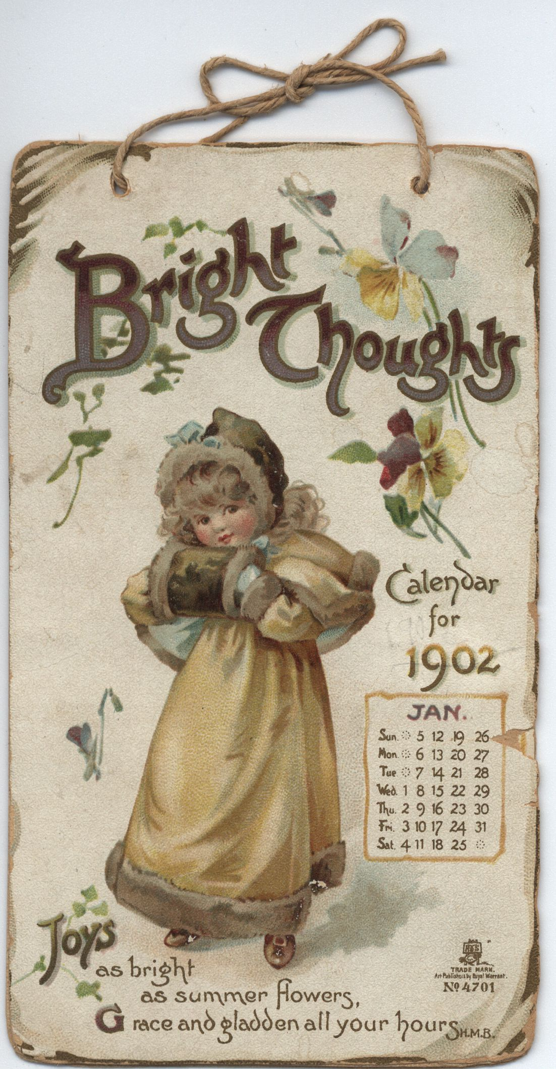 BRIGHT THOUGHTS CALENDAR FOR 1902