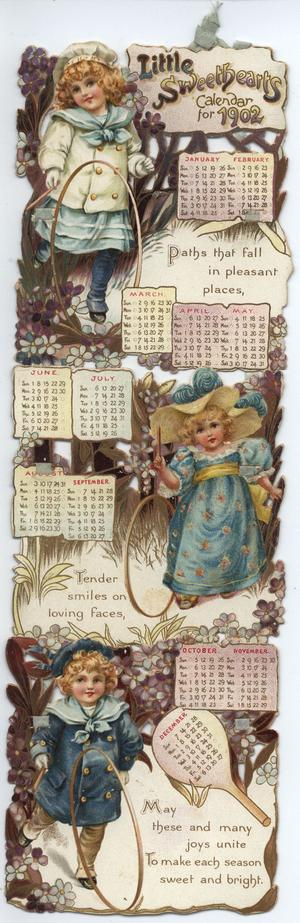 LITTLE SWEETHEARTS CALENDAR FOR 1902