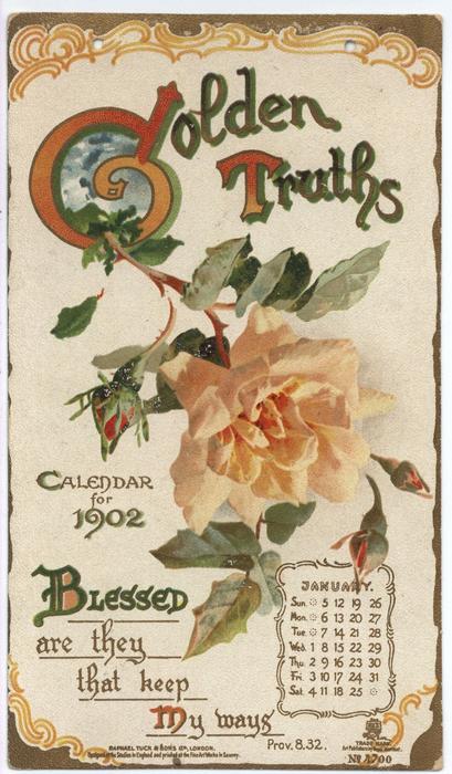 GOLDEN TRUTHS CALENDAR FOR 1902