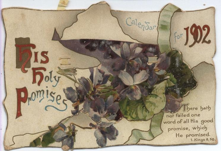 HIS HOLY PROMISES CALENDAR FOR 1902