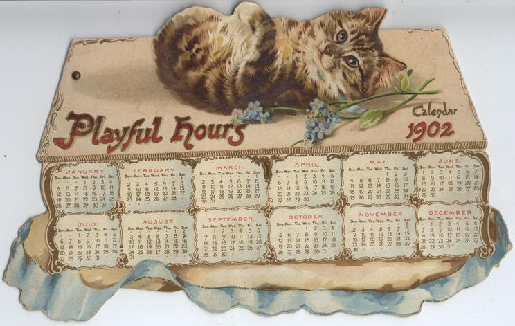 PLAYFUL HOURS CALENDAR FOR 1902