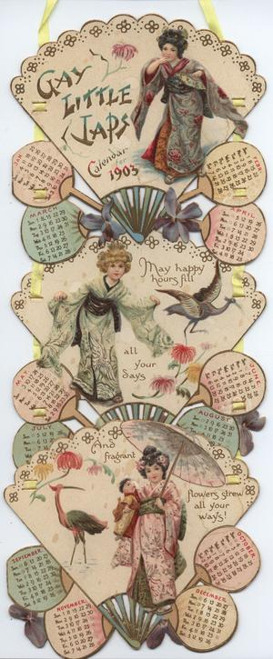 GAY LITTLE JAPS CALENDAR FOR 1903
