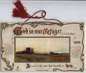 GOD IS OUR REFUGE CALENDAR FOR 1904