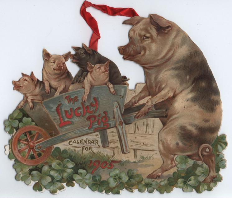 THE LUCKY PIG CALENDAR FOR 1905