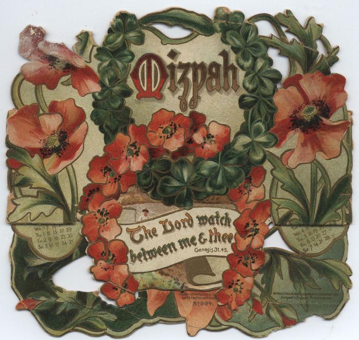 MIZPAH CALENDAR FOR 1907