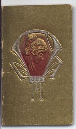 art nouveau cameo image on gold cover