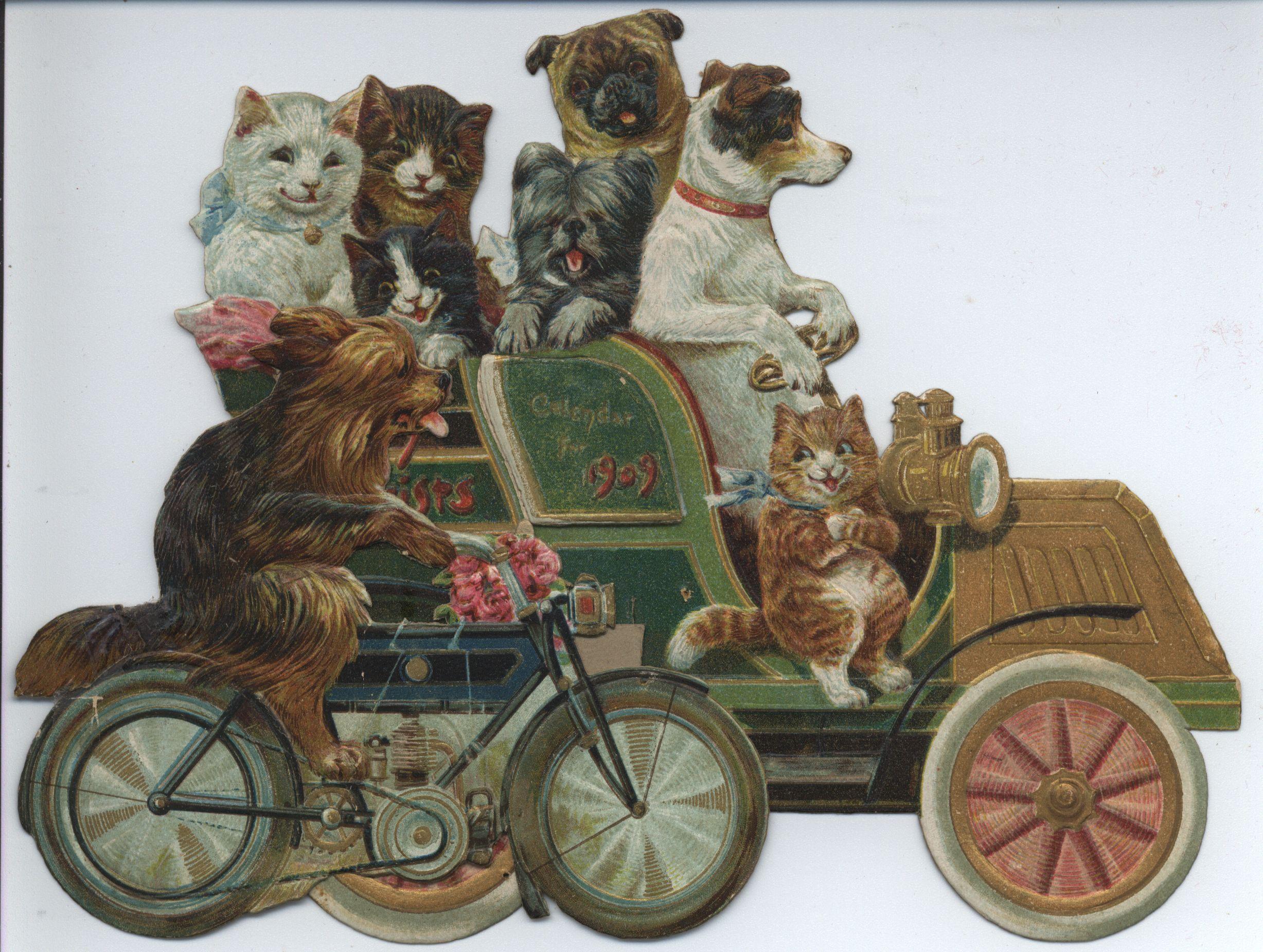 MERRY MOTORISTS CALENDAR FOR 1909