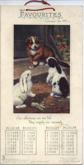 FAVOURITES CALENDAR FOR 1911