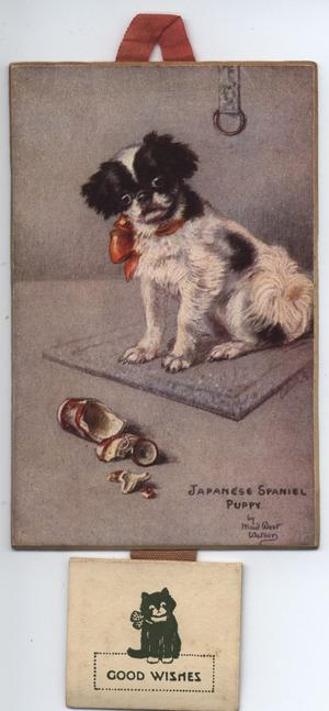 JAPANESE SPANIEL PUPPY(title on front), MY JAP PUPPY(title on reverse)