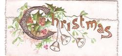 CHRISTMAS holly, mistletoe & bells