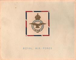 ROYAL AIR FORCE (front) -- R.A.F. STATION, MARSTON MOOR, YORK (inside)