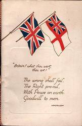 "Union Jack & White Ensign ""BRITAIN! WHAT THOU WERT, THOU ART!"