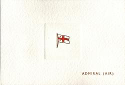 ADMIRAL (AIR) red & white flag crest inset