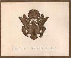 UNITED STATES ARMY heavily embossed gilt crest