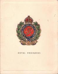 ROYAL ENGINEERS multi-coloured crest & motto HONI SOIT QUI MAL Y PENSE