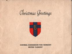 CONTROL COMMISSION GERMANY  BRITISH ELEMENT