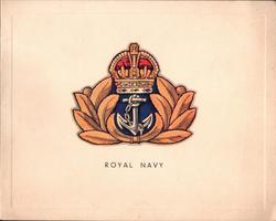 ROYAL NAVY gilt, silver red & blue crest