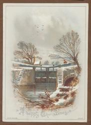 canal lock in winter