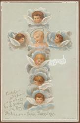 cross of cherubs