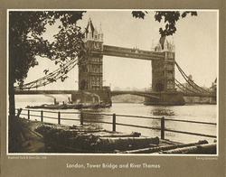 LONDON, TOWER BRIDGE AND RIVER THAMES